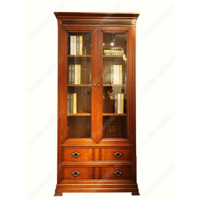 Библиотечный шкаф для дома двухдверный