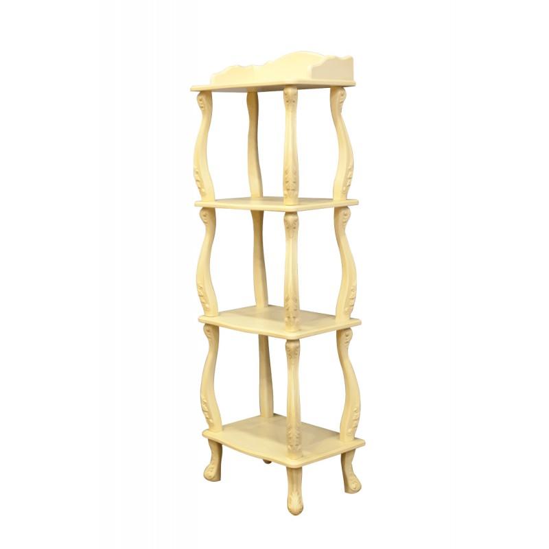 Стеллаж напольный деревянный