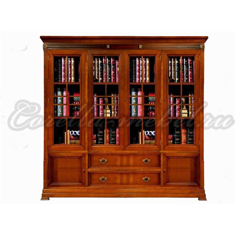 Книжный шкаф для дома четырехдверный